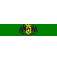 flag of groningen is the main municipality of vector image vector image