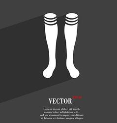 Football gaites symbol flat modern web design with vector