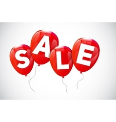 Glossy Balloons Sale Concept of Discount vector image vector image
