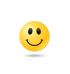 Happy emoticon emoji bright smile symbol eps vector image vector image