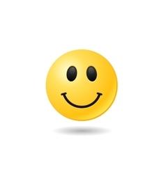 Happy emoticon emoji bright smile symbol eps vector image