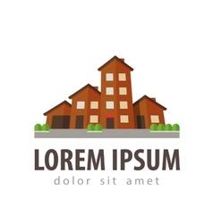 house settlement village township logo vector image vector image