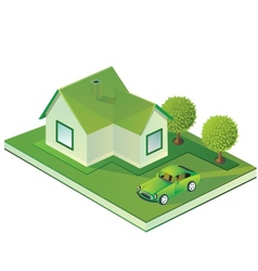 Isometric farmhouse vector image