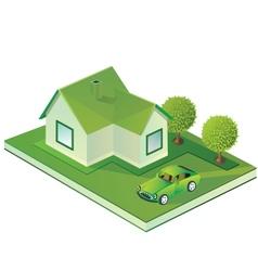 Isometric farmhouse vector