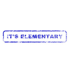 It s elementary rubber stamp vector