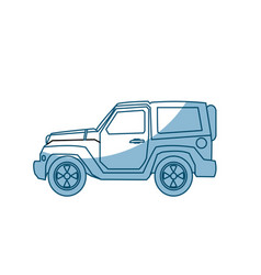 jeep car vehicle adventure travel transport - vector image