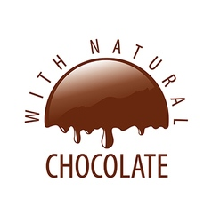 logo natural melting chocolate vector image