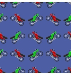 Red green sport bike seamless pattern vector