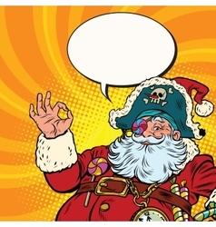 Santa claus pirate ok gesture vector