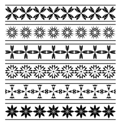 set of black elements of borders vector image vector image