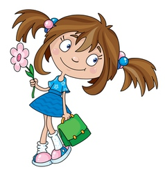 smiling girl vector image vector image