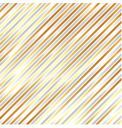 striped diagonal silver and golden color vector image vector image