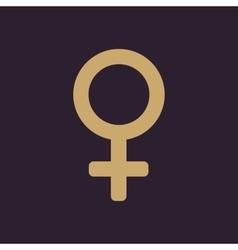 The women icon female symbol flat vector