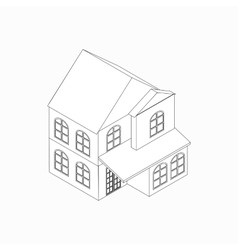 Two-storied detached house icon vector image vector image
