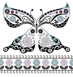 vintage decorative butterfly vector image vector image