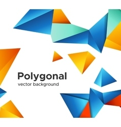 Premium low poly geometric banner design concept vector