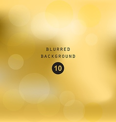 Blurred abstract gradient background gold vector