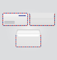 Mail envelope par avion blank paper vector