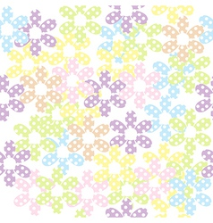 Seamless pattern with dotted flowers background vector