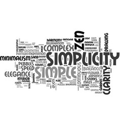 Simplicity word cloud concept vector