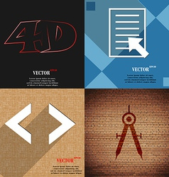 Set of abstract backgrounds with different web vector