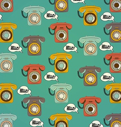Background with retro phone vector