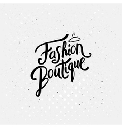 Fashion boutique concept graphic design vector