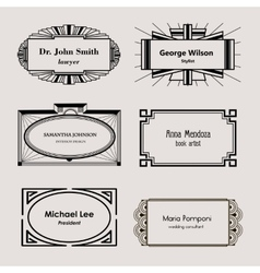 Beautiful blank frames for business cards vector