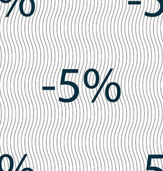 5 percent discount sign icon sale symbol special vector