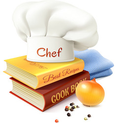 Chef and cooking concept vector