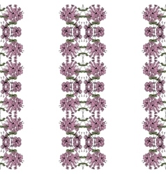 Hand drawn floral seamless pattern in pink vector