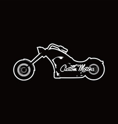 Custom motorcycle chopper bike vector