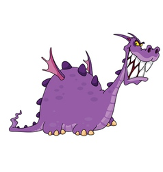 smiling dragon vector image