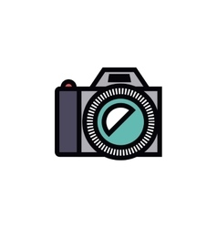 Camera photography isolated icon design vector