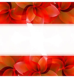 Borders of red tulips vector