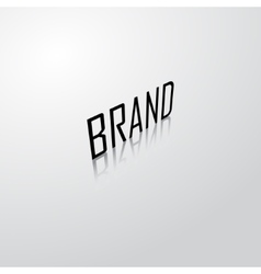 Brand name background vector image