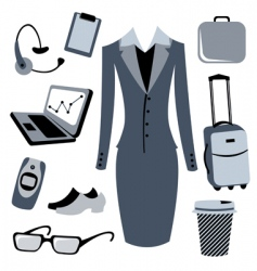 business woman accessories set vector image vector image