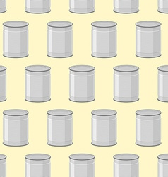 Canned seamless pattern Background of jars for vector image