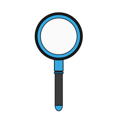 Colorful graphic magnifying glass with lens vector