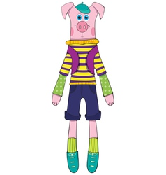 doll - pig vector image vector image