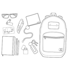 Every day carry man items vector image