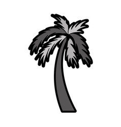 flat palm cartoon vector image vector image