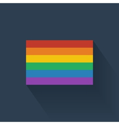 Flat rainbow flag vector image