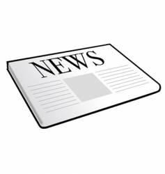 folded newspaper vector image