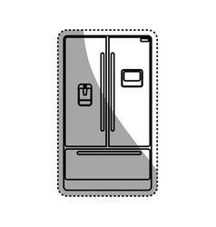 fridge household appliances vector image