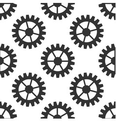 gear icon seamless pattern vector image vector image