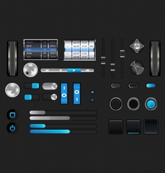 graphic user interface vector image vector image