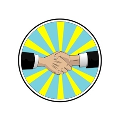 handshake businessman agreement vector image