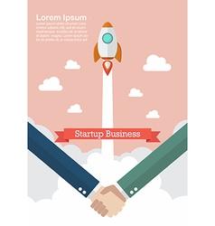 Handshake deal startup business vector