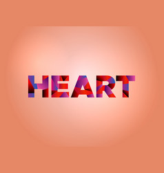 heart concept colorful word art vector image